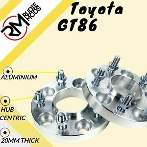 TOYOTA-GT86-20mm-Hubcentric-Wheel-Distanziatori-1-Paio-5x100-56-1