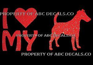 VRS LOVE My Dog BULL TERRIER Heart Puppy Adoption CAR DECAL METAL STICKER