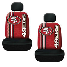 NFL San Francisco 49ers Car Truck 2 Front Seat Covers Steering Wheel Cover Set