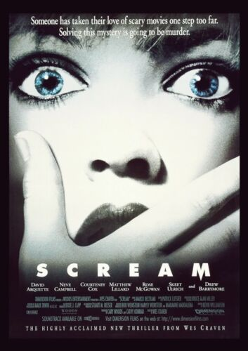 CLASSIC HORROR SCARY THRILLER MOVIES A4 Posters Vintage Film Cinema Wall Art