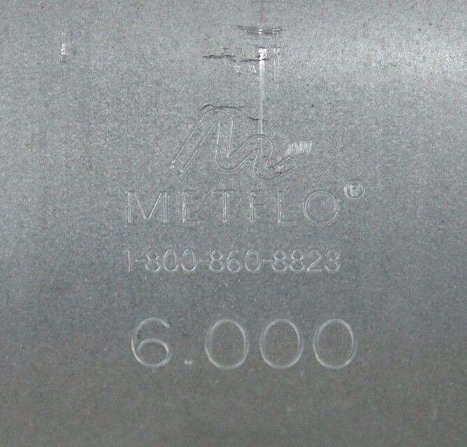 Abrazadera de sellado nuevo METFLO 6.000 6.000 6.000 Acoplamiento 6 305fcb