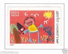 PHILA1253 INDIA 1990 NATIONAL CHILDREN DAY MNH