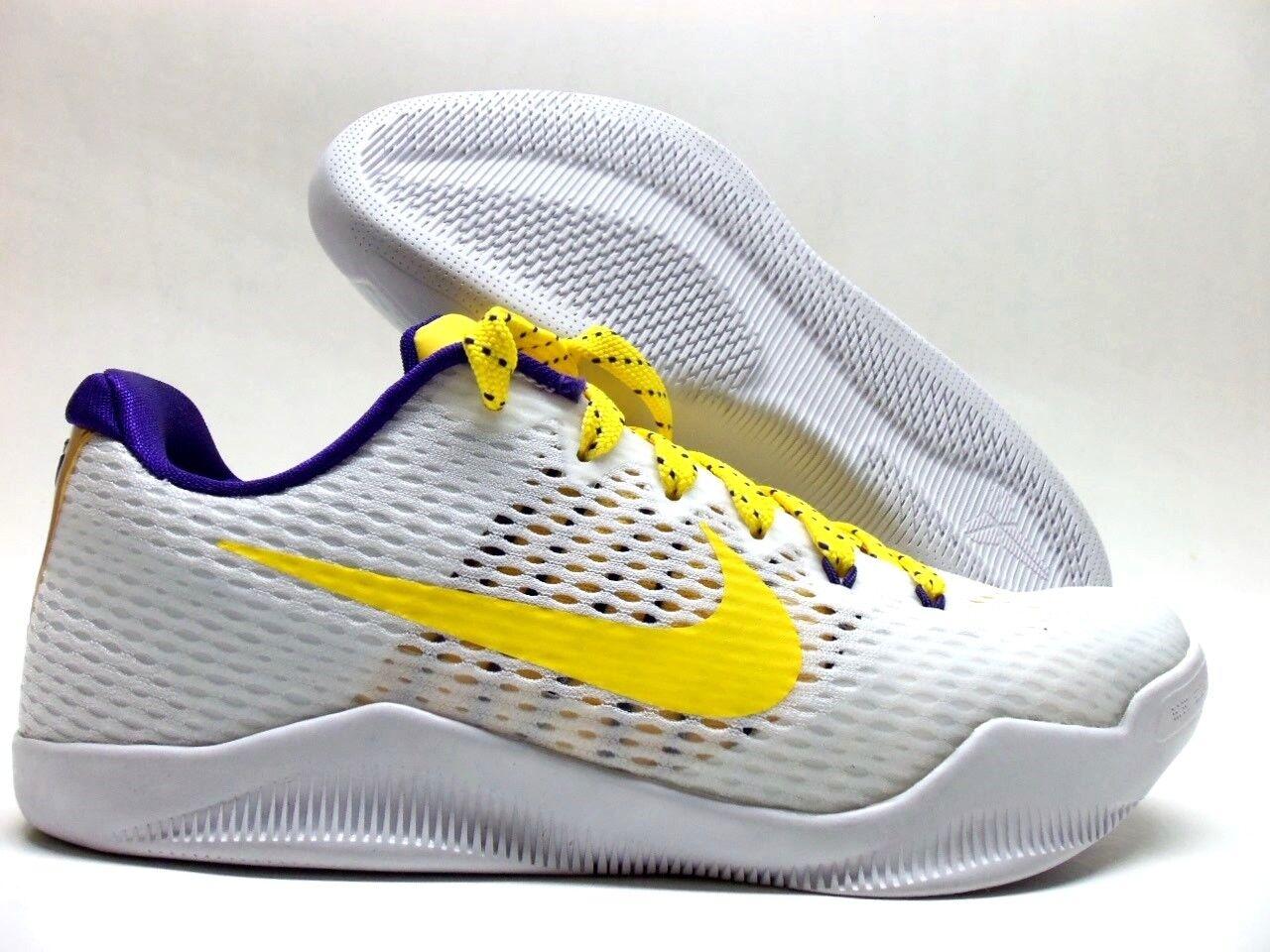 Nike kobe xi 11 qs mamba giorno id bianco / canyon gold-purple sz uomini 7 [865773-994]