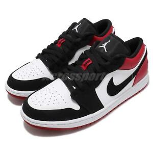 the latest e3c8b 1352d Image is loading Nike-Air-Jordan-1-Low-Black-Toe-White-