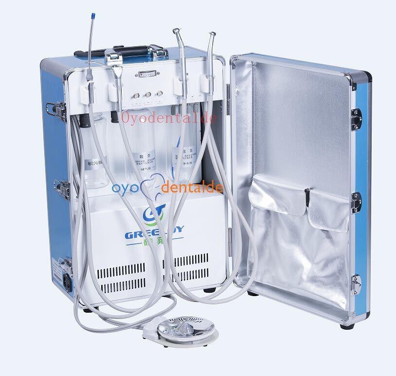 Greeloy Mobile Dentaleinheit tragbar +Multifunktionsspritze+ Speichelsauger 2 4H