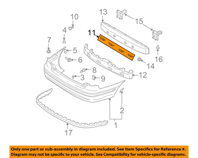 Hyundai OEM 01-06 Elantra Rear Bumper-lower Bracket ...