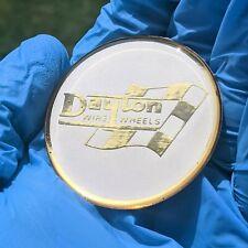 Goldwhite Dayton Zenith Wire Wheel Chips Emblems Decals Set Of 4 Size 275in