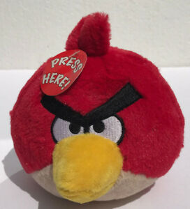 Angry Birds Red Cardinal Plush Soft Stuffed Round Noise Toy Animal