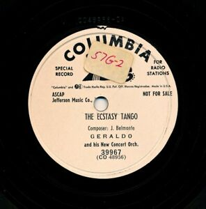GERALDO-and-his-New-Concert-Orchestra-on-1953-Columbia-39967-The-Ecstasy-Tango
