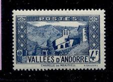 ANDORRE FRANCAIS 1937-1943 - 89 CHAPELLE DE MERITXELL - NEUF LUXE **