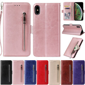 Zipper Flip Wallet Leather Case Cover For iPhone 12 Pro 11 X XR XS Max 7 8 Plus