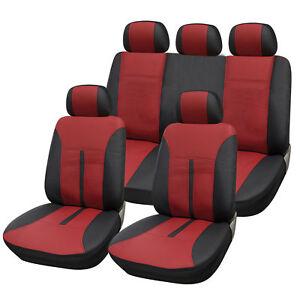 auto sitzbez ge sitzbezug f r pkw ohne seitenairbag schwarz bordeaux as7291 ebay. Black Bedroom Furniture Sets. Home Design Ideas