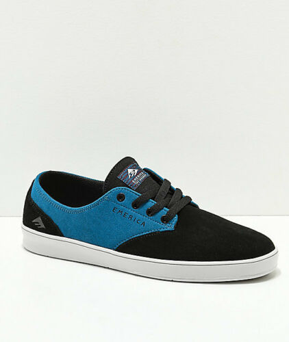 Men/'s Skate Shoe Emerica X Toy Machine The Romero Laced Black//Turquoise
