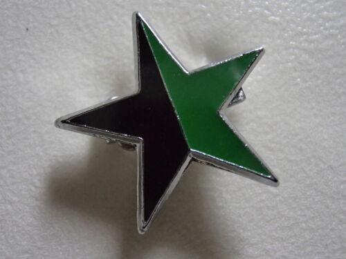 GREEN ANARCHIST STAR//FESTIVAL//GLASTONBURY//MUSE//NEW AGE//Enamel Novelty// Message