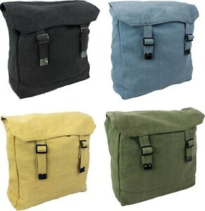 545ad22806 Image is loading NEW-Medium-Cotton-Army-Style-Canvas-Vintage-Satchel-