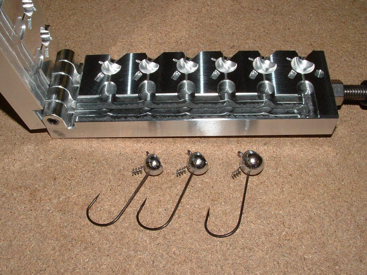 Cerradura de tornillo de bola levantado Jig De Agua Dulce Molde 5 16,3 8,1 2oz 32798 CNC Aluminio
