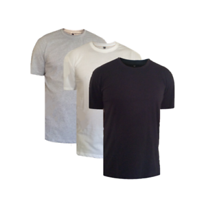 5 pack of Plain Crew Neck cotton T shirts
