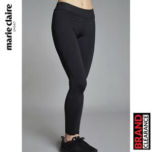 Marie-Claire-Sport-Pivot-Plain-Leggings-Tights-Running-Black-RRP-59-99
