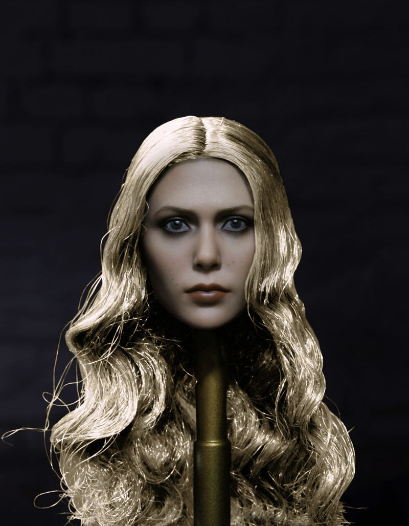 1 1 1 6 Scale The Avengers Scarlet Witch Headplay Elizabeth Olsen Head Sculpt 8b6a32