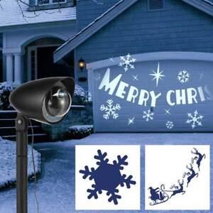 Ebay Weihnachtsdeko.Led Projektor F Aussen Kaltweiss 3 Motive Wahlbar Weihnachten