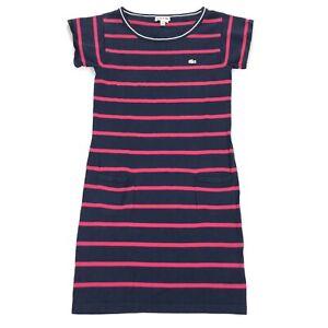 Lacoste-Women-039-s-Striped-Summer-Full-Length-Dress-Pink-Blue-Size-34