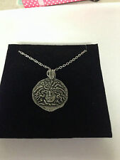 ROMAN MEDUSA REFMPPCH Emblem on Silver Platinum Plated Necklace 18""