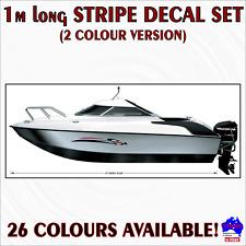 FULL BOAR Fishing Boat Stick Sticker Decal Marine Mirrored Set of 2