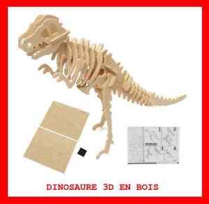 DINOSAURE-3D-BOIS-PUZZLE-JIGSAWS-JEU-JOUET-EDUCATIF-ENFANT-CREATIF-KIT-SOCIETE
