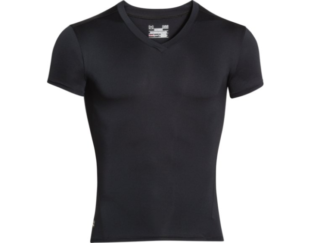 8431471c7b4d Under Armour UA 1216007 Black XL HeatGear Tactical Compression V-neck Men  Shirt