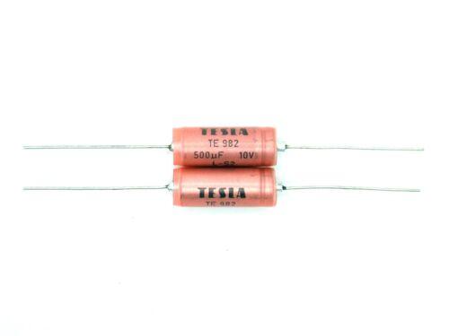 TE 982 10V L-S2,ELKO,Elektrolyt - Kondensator TESLA TE982 T289 2x 500µF 10V