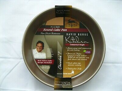 David Burke Kitchen Commerical Weight Silver Square Cake Pan 9 x 9 x 2 Inches