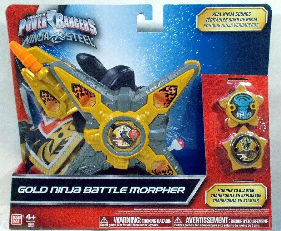 Power Rangers Ninja Ninja Ninja Steel gold Ninja Battle Morpher With Ninja Stars (MISP) cb850d
