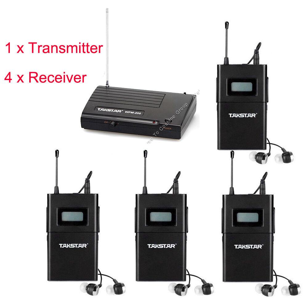 PRO Takstar WPM-200 WPM-200 WPM-200 In-Ear etapa Sistema De Monitoreo Inalámbrico Transmisor Receptor +4  almacén al por mayor