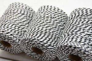 (0.07 €/m) Xxl Cordon Twine Noir/blanc 150m Cordon Bastelschnur-afficher Le Titre D'origine Douceur AgréAble