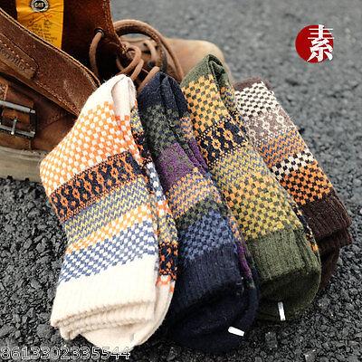 4 Pairs Men's Warm Winter Thick wool mixture ANGORA Cashmere Casual Dress Socks