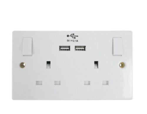 Compatible Pour facturer iPads tablettes et mobiles USB Prise de courant double