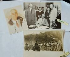 Franklin D. James Roosevelt 1945 Funeral SSN 1935 1985 Signature 10by8by7 HS