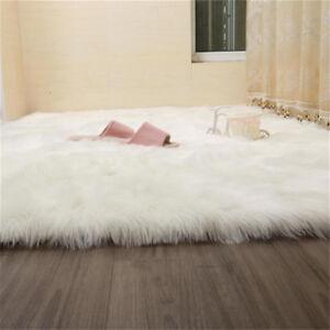 2019 Fluffy White Faux Sheepskin Rug