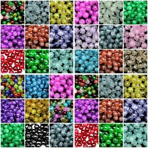 Round-Glass-Crackle-Beads-400-4mm-200-6mm-100-8mm-50-10mm-Colours-ML