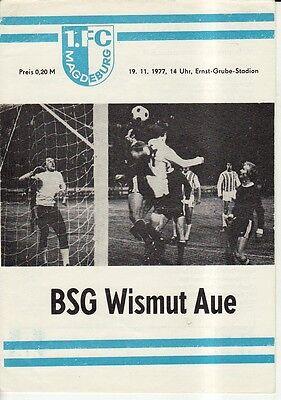 OL 79//80  BSG Wismut Aue 1 FC Lok Leipzig