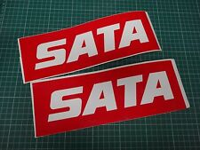 2x Sata Decals Spray Gun Paint Booth Stickers Work Shop Wall Sticker Body Shop