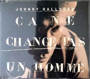 CD-MAXI-JOHNNY-HALLYDAY-CA-NE-CHANGE-PAS-UN-HOMME-RARE-COLLECTOR-COMME-NEUF-1991