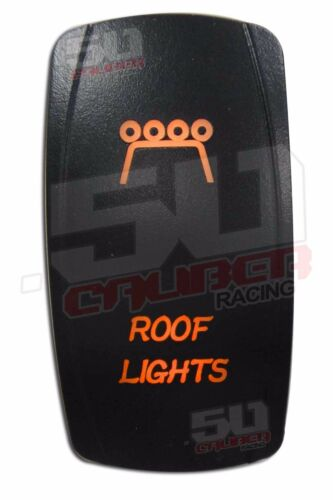 Illuminated Rocker Switch Roof Lights UTV RZR TURBO Maverick X3 YXZ1000R Orange