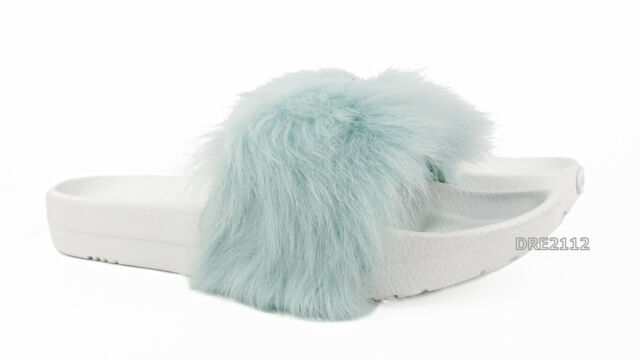 82f274abf10 UGG Royale Baby Blue Toscana Fluffie Slide Slippers Womens US 5/ EUR 36