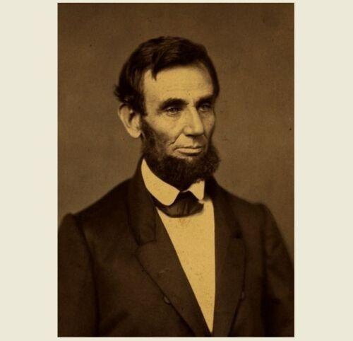 Civil War President . First Abraham Lincoln President PHOTO 1861 Portrait Art