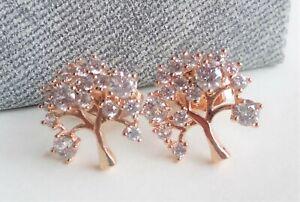 Pendientes-arbol-de-circonitas-con-oro-rosa-laminado-18-kgf