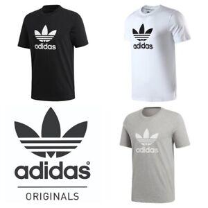 Adidas-Mens-T-Shirt-Originals-Trefoil-Logo-Sports-Gym-Cotton-T-Shirt-Size