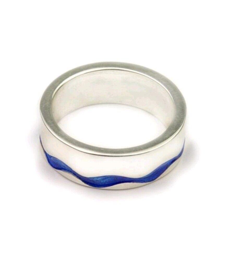 NUOVO NUOVO NUOVO in scatola Ortak SIMPLY Stylish argentoo Anello. il colore è Pacifico. UK Taglia M a971c1