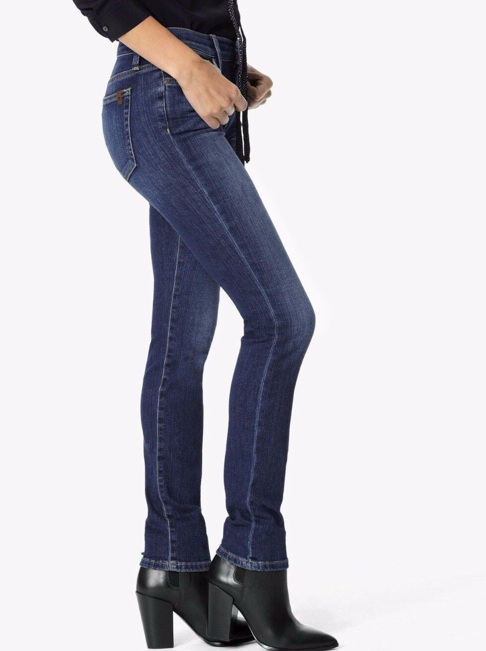 NWT JOE'S Sz27 THE CIGARETTE FLAWLESS STRAIGHT-STRETCH JEANS LYNX blueE