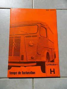 Temps de facturation CITROËN HY  mars 1981  44 pages